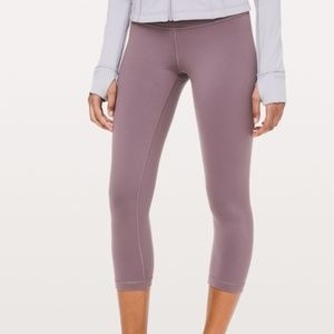Lululemon High Rise Wunder Under Crop Leggings